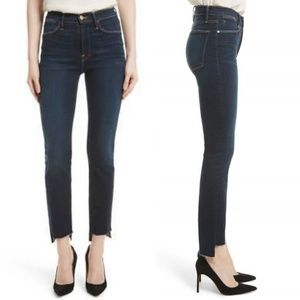 FRAME | Le High Straight Staggered Hem Jeans | 27